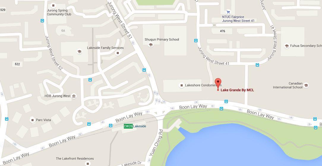newlaunch.sg lake grande locationmap