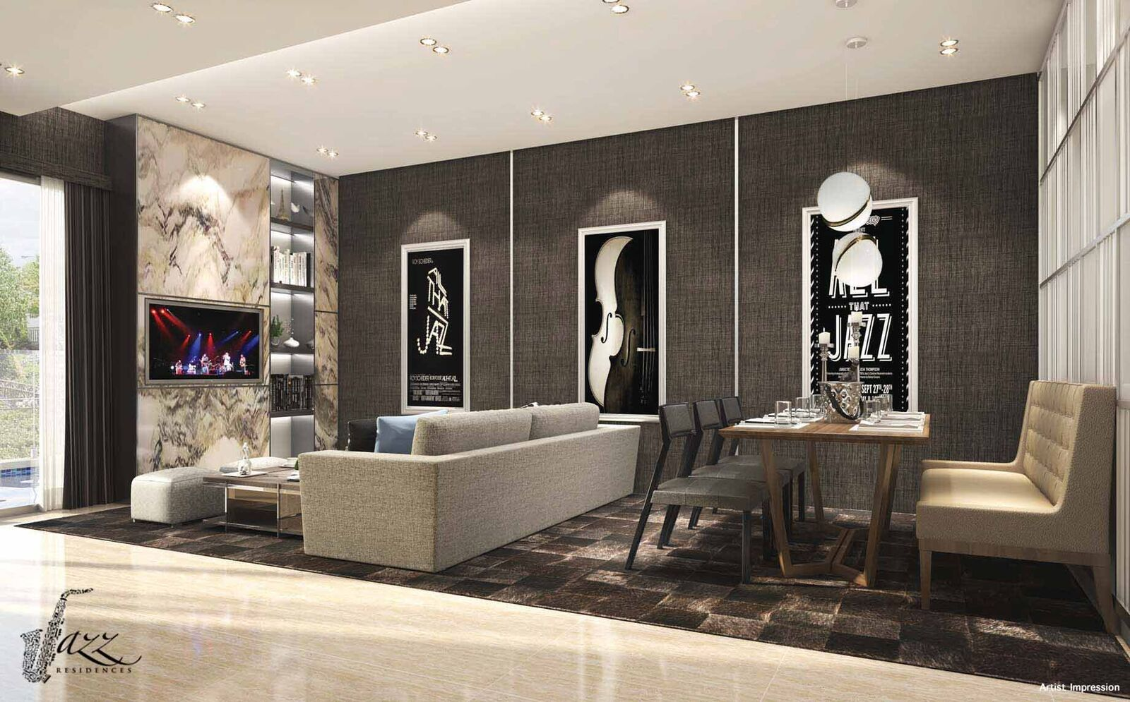 Jazz residences strata landed sales and price info for Living room jazz los angeles