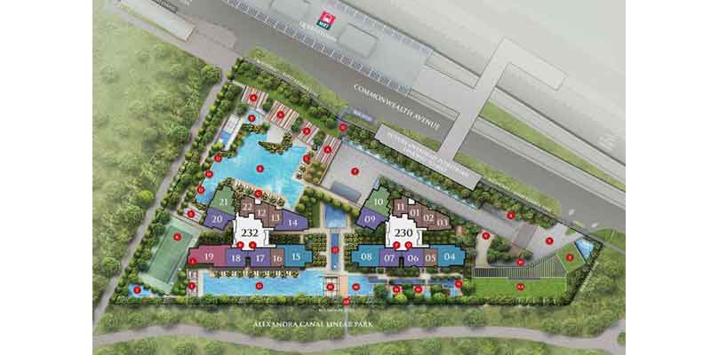 newlaunch.sg commonwealth towers siteplan