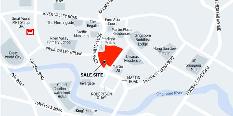 newlaunch.sg martin modern locationmap