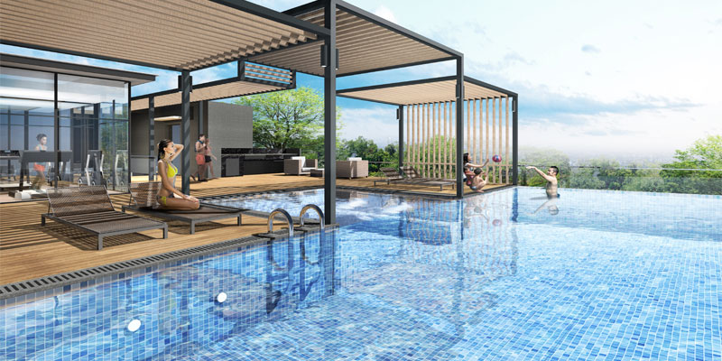 newlaunch.sg 24 One Residences pool
