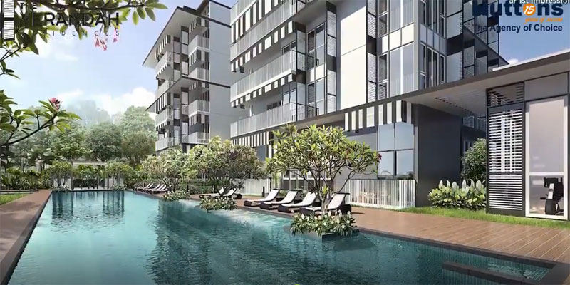 newlaunch.sg verandah residences pool sideview