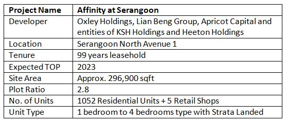 newlaunch.sg affinity at serangoon details