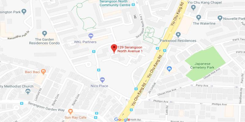 newlaunch.sg affinity at serangoon map
