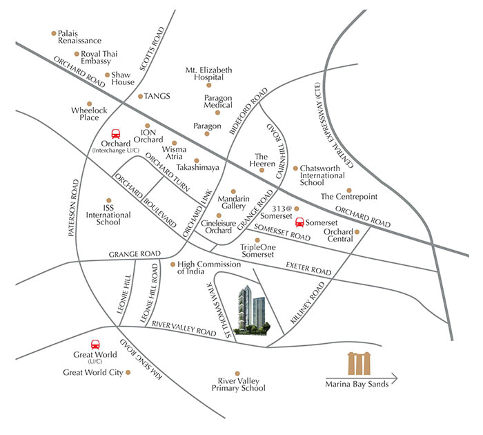 newlaunch.sg 8 saint thomas location map
