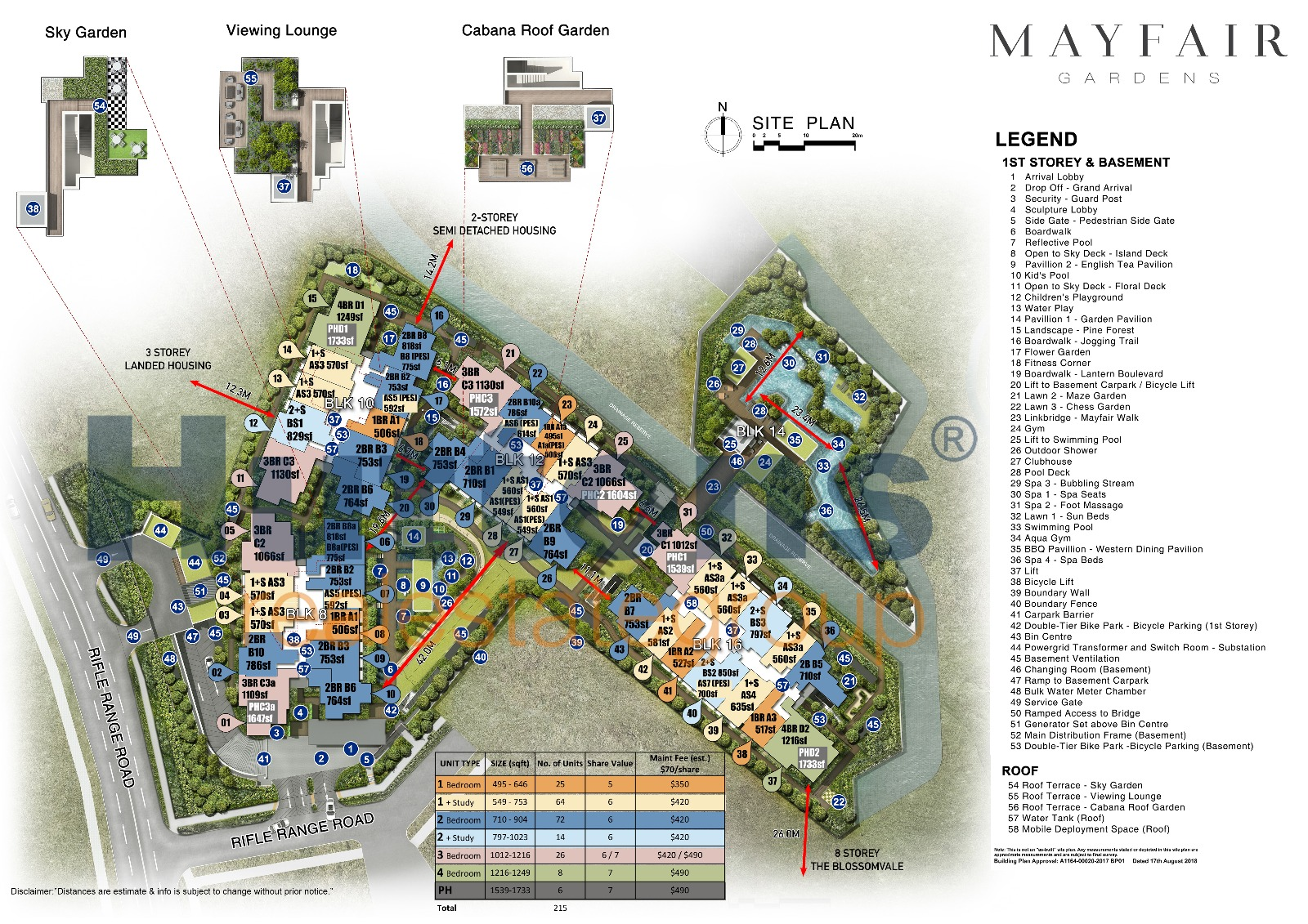 newlaunch.sg MayFair Gardens Site Plan (With Units) 120918