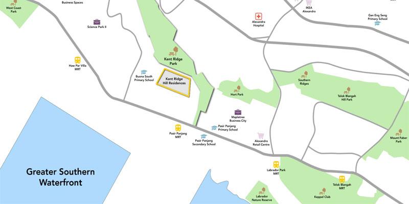 newlaunch.sg kent ridge hill residences locationmap