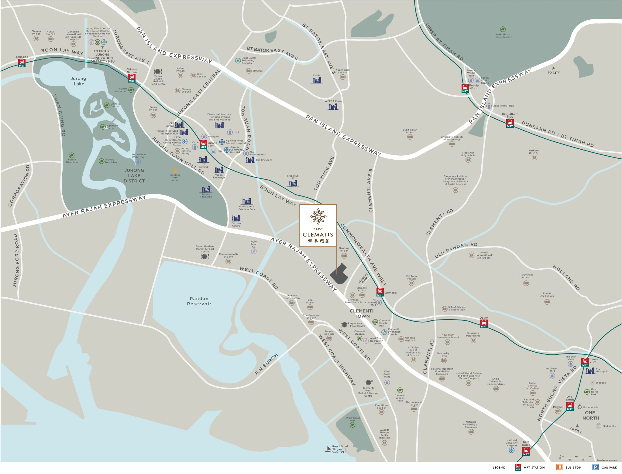 newlaunch.sg Parc Clematis locationmap