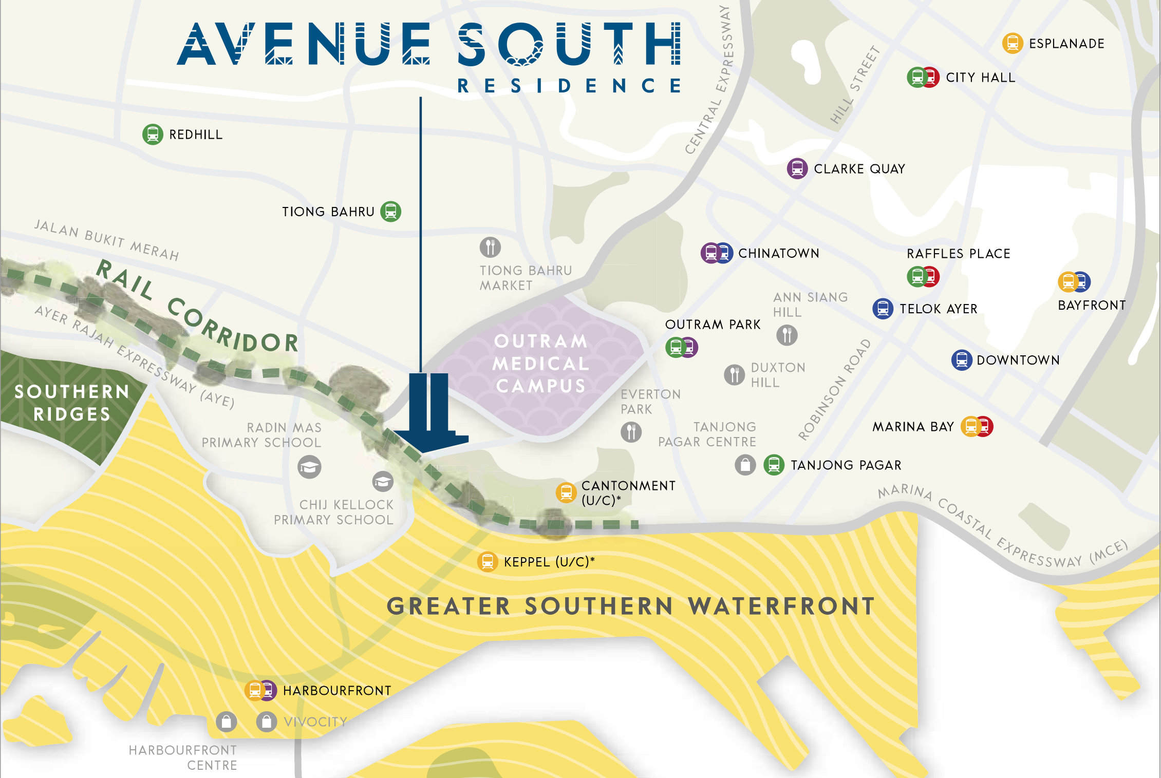 newlaunch.sg avenue south residence Map