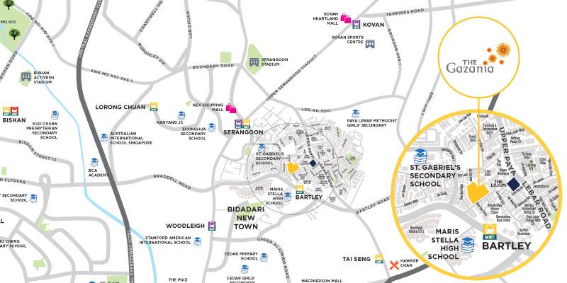 newlaunch.sg gazania location