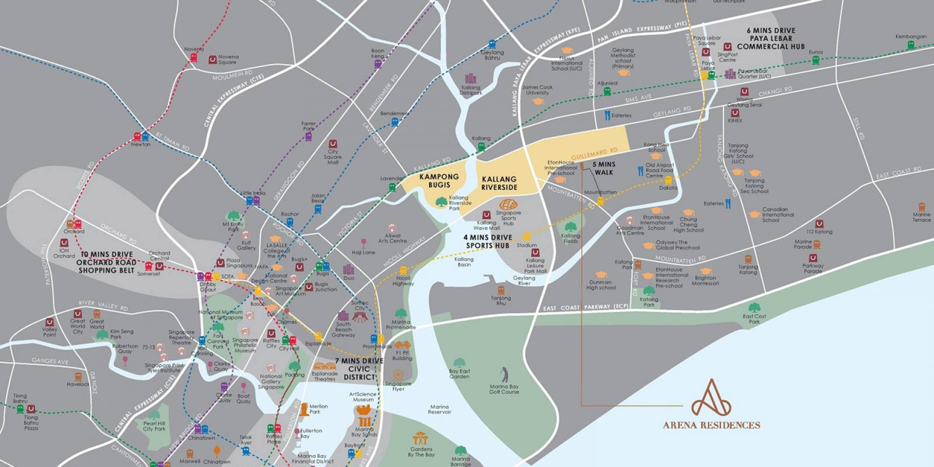 newlaunch.sg arena residences locationmap