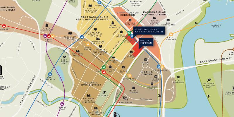 newlaunch.sg midtown modern locationmap
