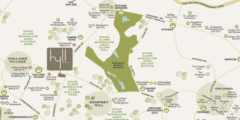 newlaunch.sg Hyll on Holland map