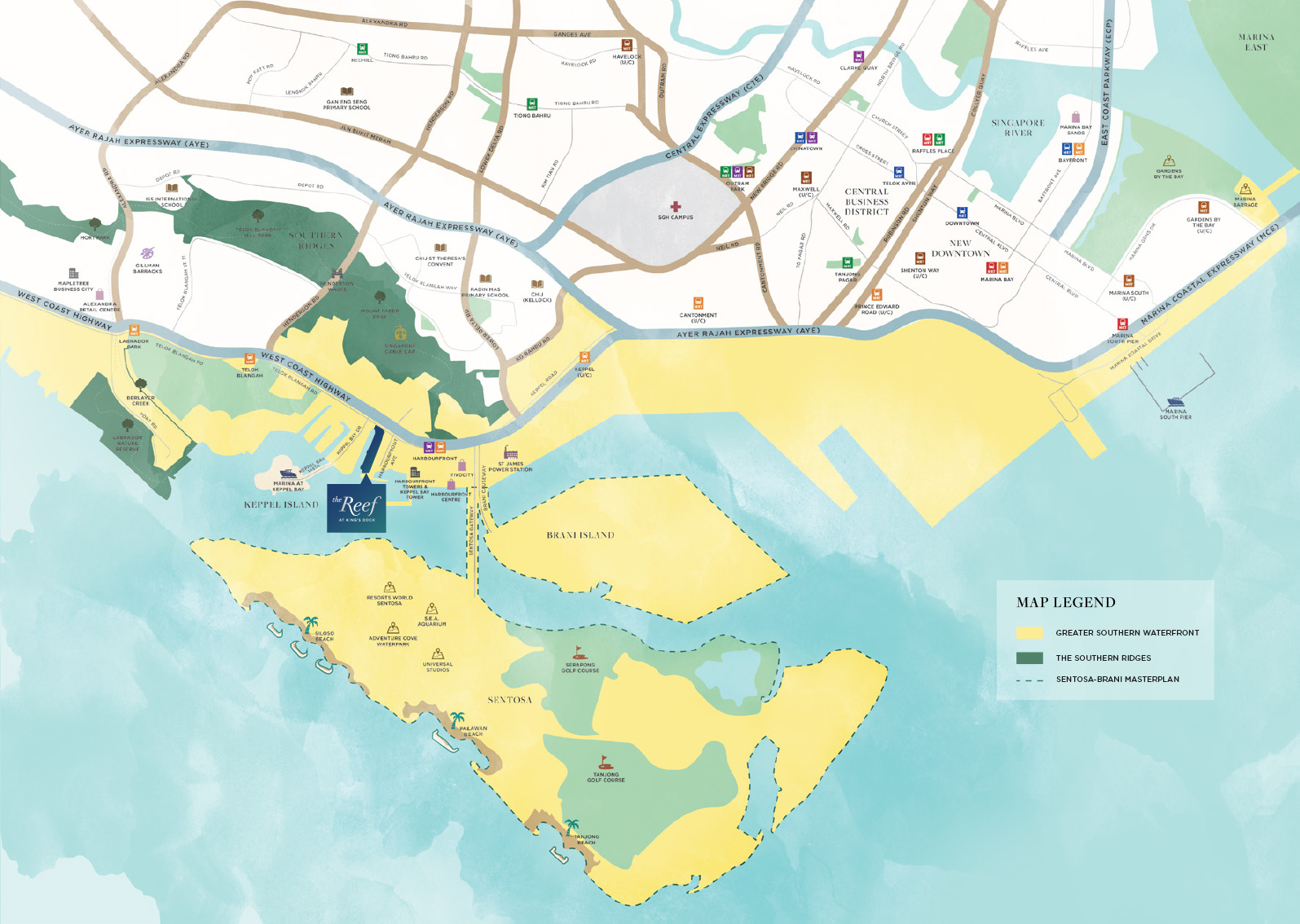 newlaunch.sg the reef at kings dock locationmap